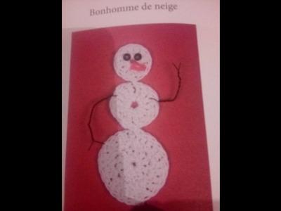 Bonhomme de neige - Débutant- CROCHET