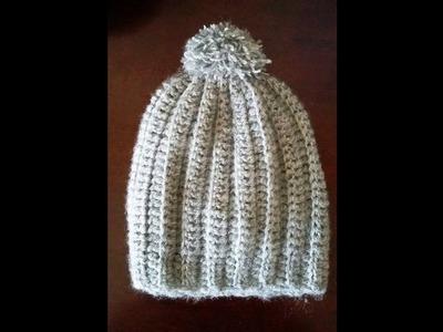 """Crochet bonnet adulte femme """"slouchy"""" avec des mesures exactes"""