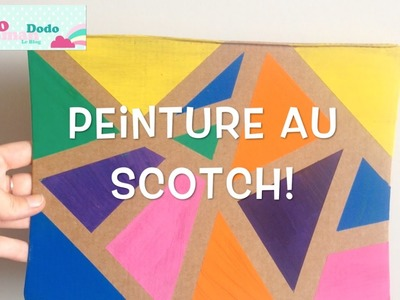 DIY enfants: La Peinture Au Scotch, activité facile et sympa!