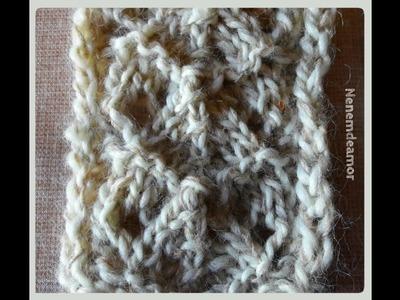 TRICOT : Le point de Mamie. KNITTING: Grandma's stitch