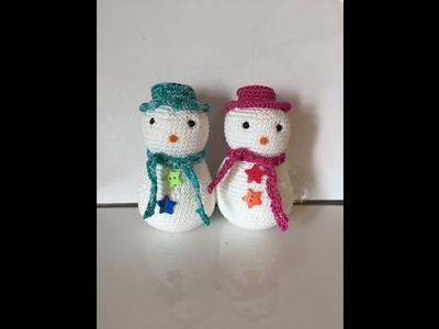 Tuto coeur au crochet my crafts and diy projects - Bonhomme de neige au crochet ...