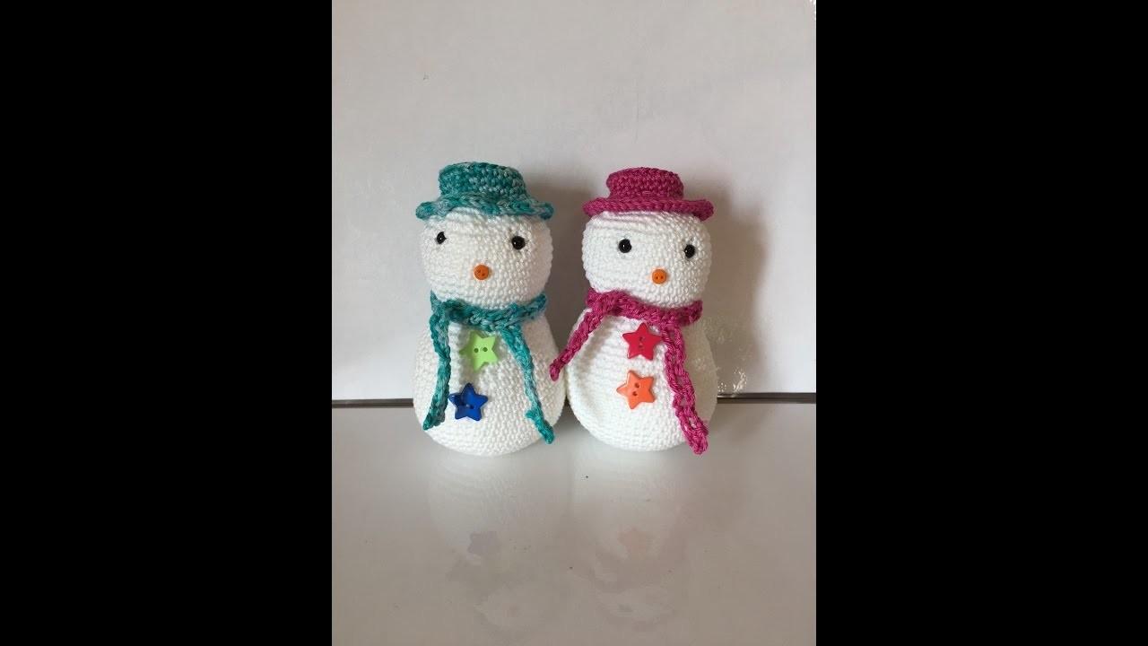Tuto bonhomme de neige au crochet spécial gaucher