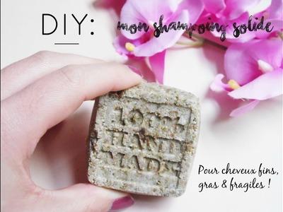 DIY : shampoing solide naturel pour cheveux fins, gras & fragiles (chute de cheveux) !