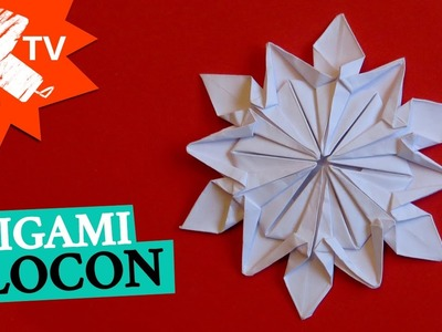 Flocon en papier - Origami - diy déco Noël