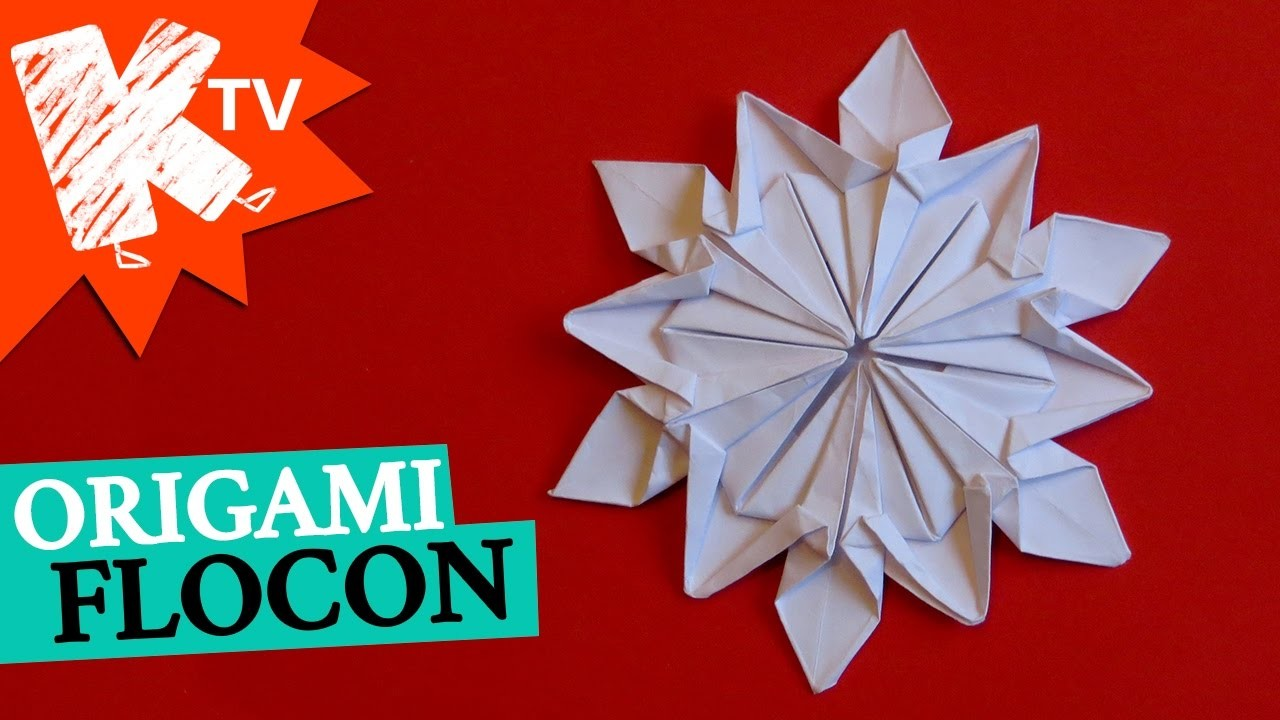 flocon en papier origami diy d co no l. Black Bedroom Furniture Sets. Home Design Ideas