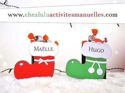 Bottes de Noël - Boîtes pour chocolats - Activité manuelle pour enfant - Bricolage - DIY