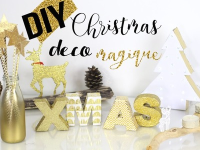DIY NOEL DECO┋DOREE & MAGIQUE  FACILE, PAS CHER christmas room decor 2016 francais