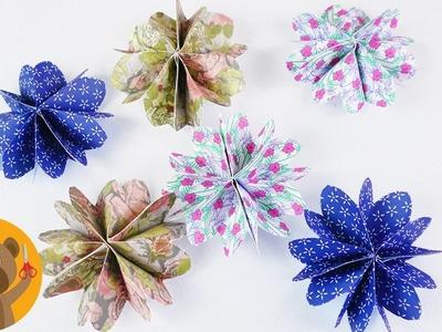 Jolies fleurs en papier à faire soi-même | Idée DIY avec du papier | Jolie décoration