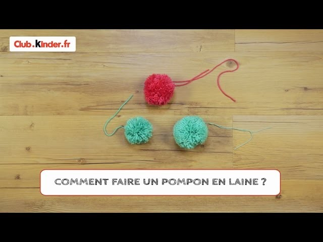 diy comment faire un pompon en laine. Black Bedroom Furniture Sets. Home Design Ideas