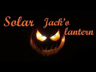 DIY Solar Jack-o'-lantern. Citrouille d'Halloween Solaire maison facile