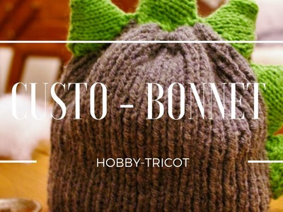 COMMENT CUSTOMISER UN BONNET EN DINOSAURE - DIY  TRICOT FACILE