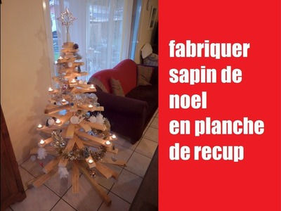 [DIY] fabriquer sapin de noel en bois de recuperation. How to make a Christmas tree