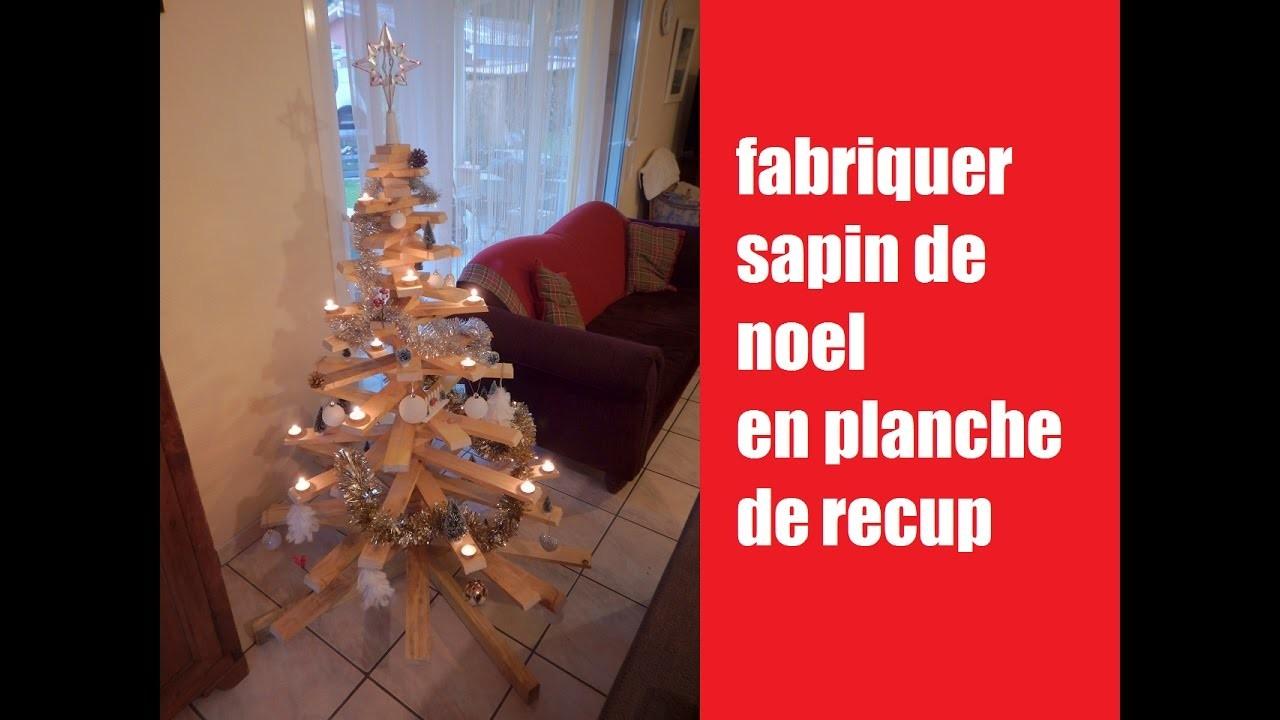 [DIY] fabriquer sapin de noel en bois de recuperation. How to make a Christmas tree