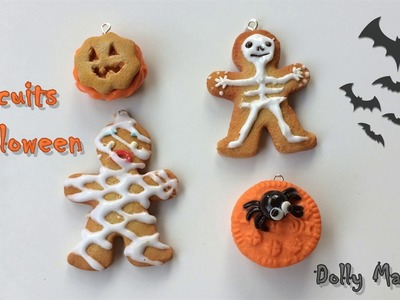 Tutoriel Fimo: Biscuits d'Halloween. Polymer clay Tutorial: Halloween cookies