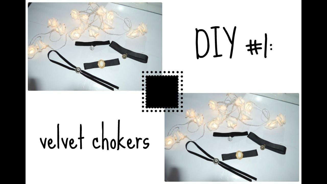 DIY#1: velvet chokers!!!