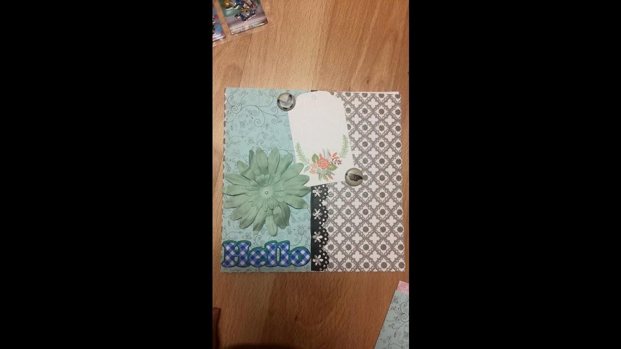 Mes cartes scrapbooking