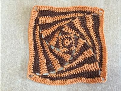 Tuto motif spiral au crochet spécial gaucher