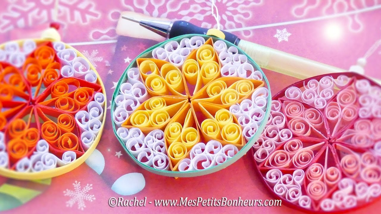 diy d co de no l boule en quilling tuto. Black Bedroom Furniture Sets. Home Design Ideas
