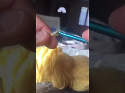 Maille chaînette au crochet