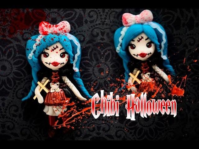 Chibi Halloween - Vampire, Demon fimo Polymer clay tutoriel