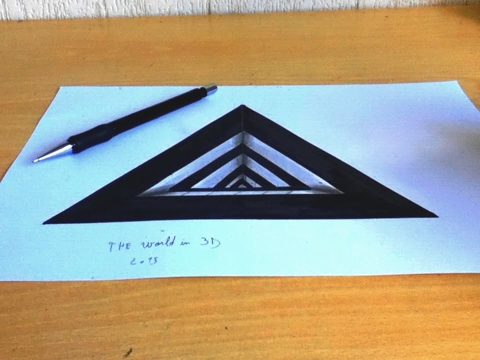 Dessin 3d illusion 2 for Dessin 3d