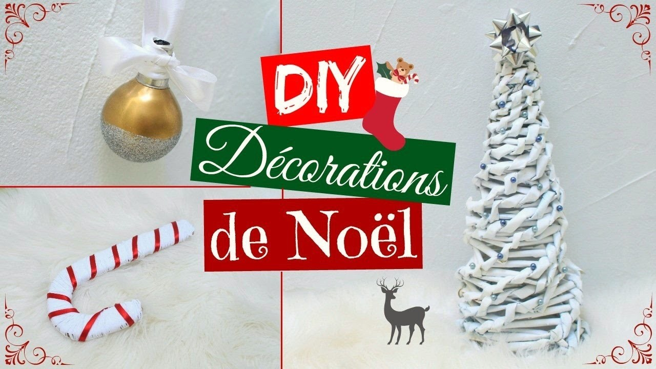 diy decorations de noel sapin de no l boule de no l et. Black Bedroom Furniture Sets. Home Design Ideas