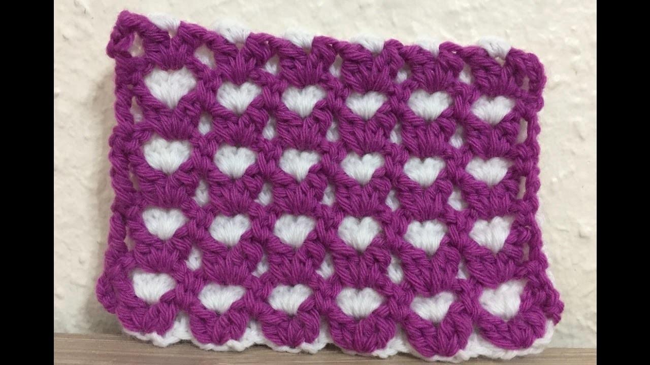 Tuto Motif Coeur Au Crochet