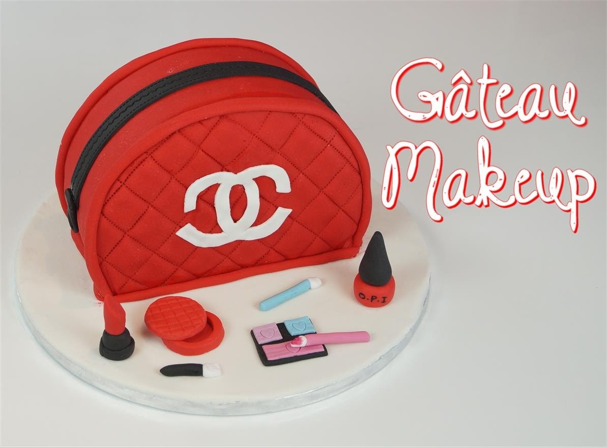 Gateau Sac Makeup Maquillage Makeup Chanel Bag Cake Design