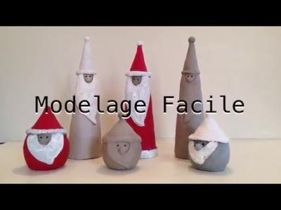 Modelage facile : le Père-Noël