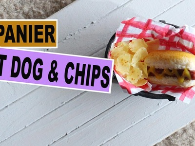 Panier Hot dog et Chips⎪Fimo