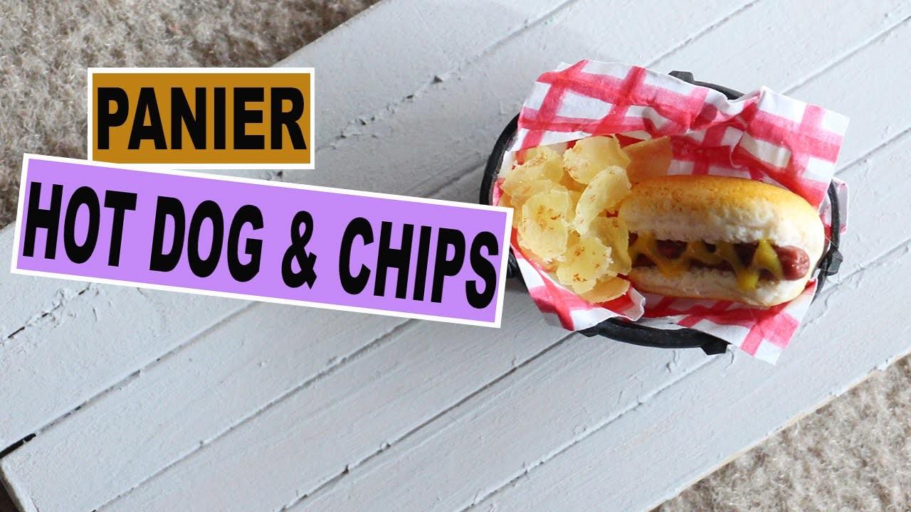 Panier Hot dog et Chips⎪Fimo
