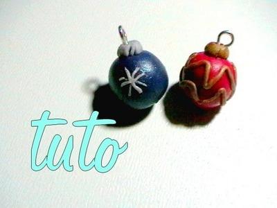 [tuto fimo ] : boule de Noël