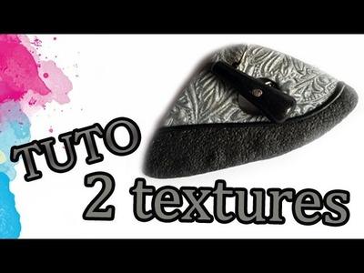TUTO FIMO: DEUX TEXTURES | PolymerClay Tutorial two textures