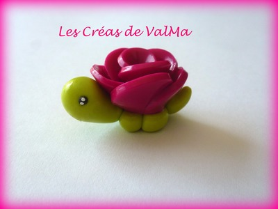 Tuto Fimo Tortue Fleur. Polymer Clay Tutorial