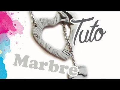 TUTO FIMO: Coeur marbré | PolymerClay Tutorial marble heart