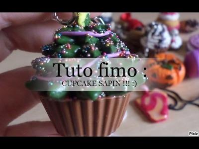 *Tuto fimo : Cupcake Sapin de NOËL !!! :) ;) :p ;) ;) * ♥♥♥