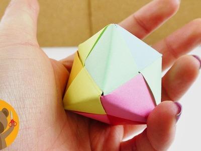 Cube multicolore à faire soi-même | Instructions de pliage pour enfants | simple & très joli