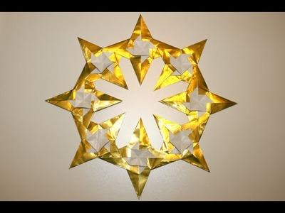 Origami - Couronne d'étoiles - Star Wreath (Yuri Shumakov) [Senbazuru]