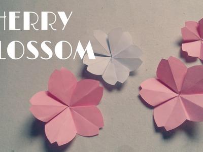 Origami facile - Fleur de Cerise