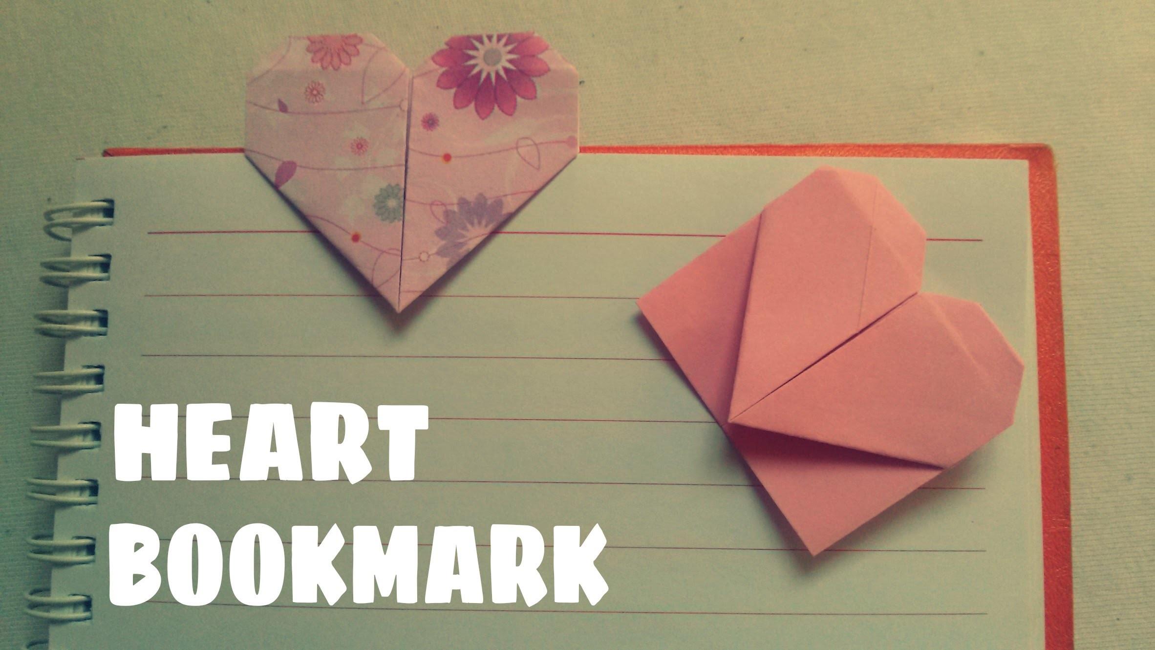 facile origami facile marque page coeur origami facile ourson et c ur. Black Bedroom Furniture Sets. Home Design Ideas
