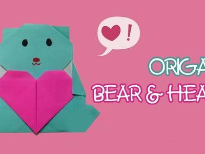 Origami facile - Ourson et cœur