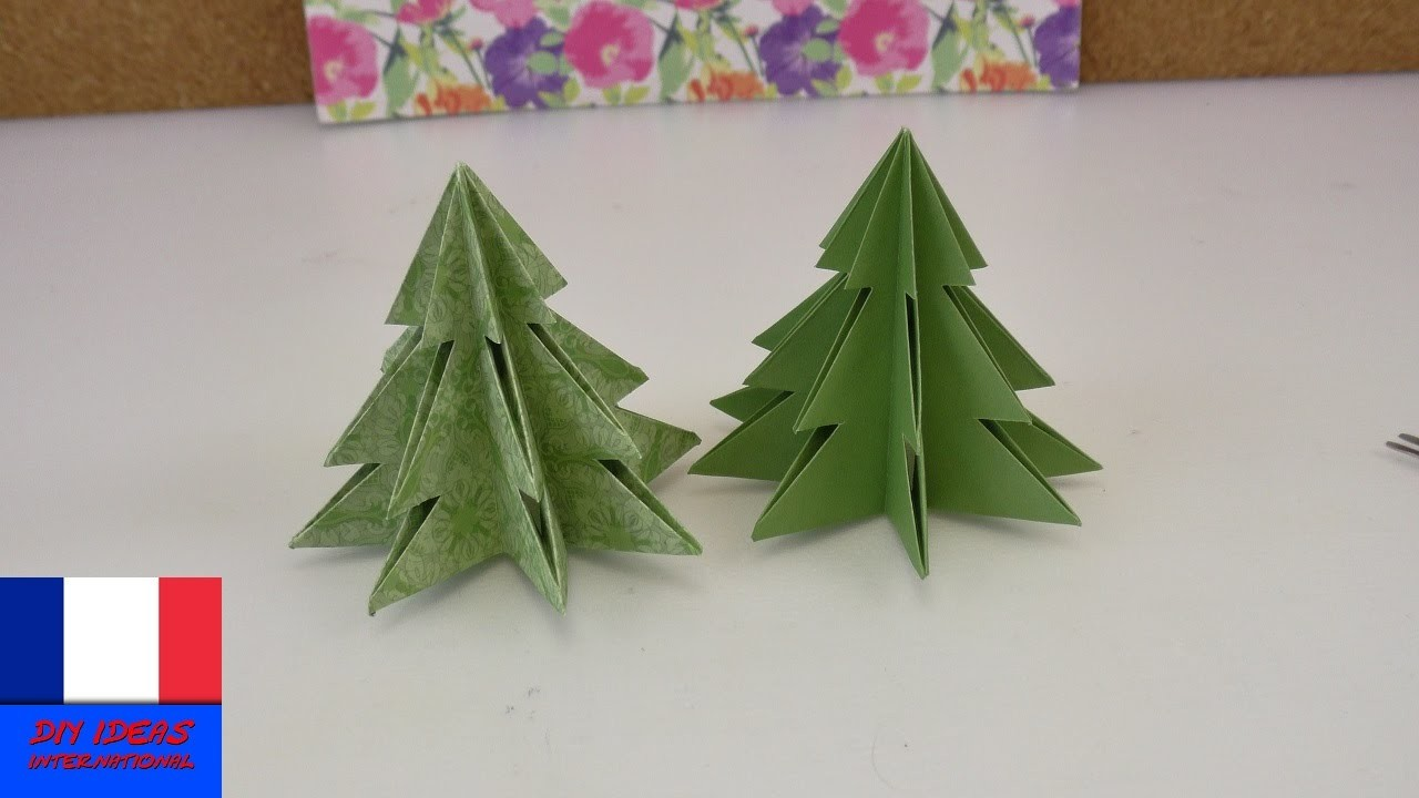 origami pour no l sapin de no l diy faire soi m me id e sympa pour no l. Black Bedroom Furniture Sets. Home Design Ideas