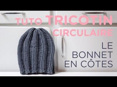 Tuto tricotin : le bonnet en côtes