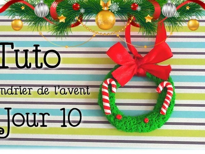 { Calendrier de l'avent } Jour 10. Couronne de Noël. FIMO
