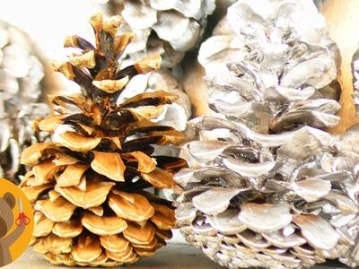 Décoration de Noël avec des pignes de pin | Décoration pour le sapin de Noël ou la table