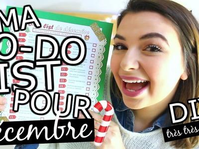 Ma TO-DO LIST pour le mois de décembre!. DIY