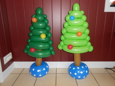 "N° 87 ""Le Sapin de Noël""  Christmas Tree balloon tutorial ,globo"