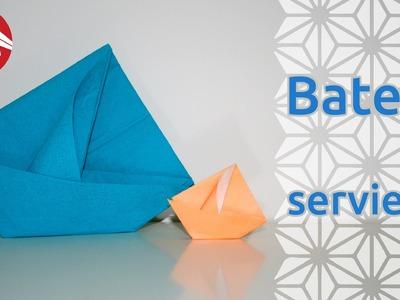 Origami - Bateau en serviette - Napkin Boat [Senbazuru]
