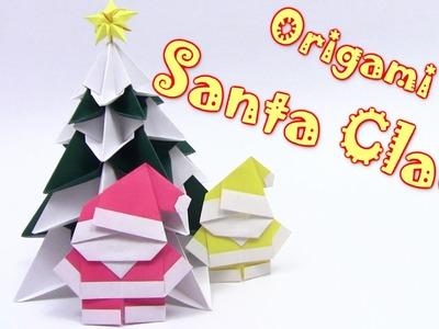 Origami Christmas  Santa Claus - Yakomoga Origami tutorial