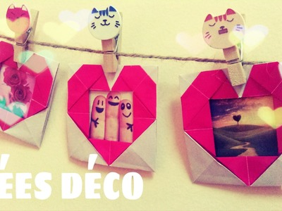 Origami facile - Cadre photo en forme de coeur